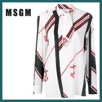 MSGM Stripes Long Sleeves Shirts & Blouses