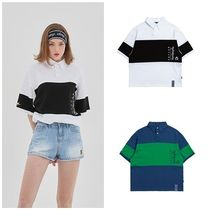 ROMANTIC CROWN Unisex Street Style Collaboration Short Sleeves Oversized