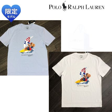 POLO RALPH LAUREN Crew Neck Crew Neck Plain Cotton Short Sleeves Crew Neck T-Shirts