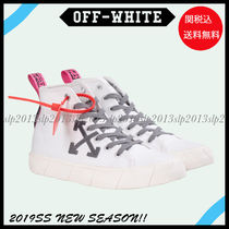 Off-White Unisex Blended Fabrics Plain Leather Sneakers