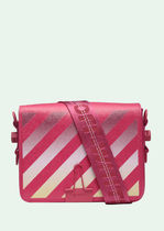 Off-White BINDER CLIP Stripes Casual Style Leather Shoulder Bags