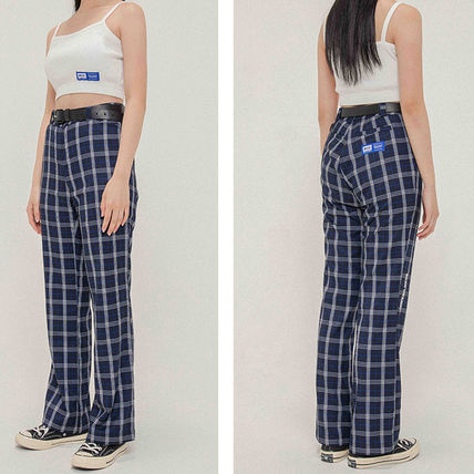 Printed Pants Other Plaid Patterns Casual Style Street Style