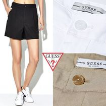 Guess Short Casual Style Denim Plain Denim & Cotton Shorts