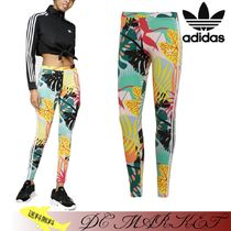 adidas Printed Pants Tropical Patterns Casual Style Street Style