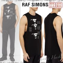 RAF SIMONS Crew Neck Sleeveless Street Style Cotton Vests & Gillets
