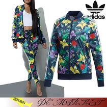 adidas Flower Patterns Casual Style Street Style Jackets