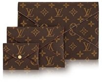 Louis Vuitton DAMIER Plain Leather Pouches & Cosmetic Bags