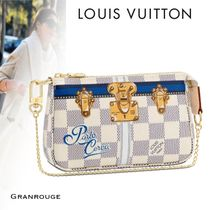 Louis Vuitton DAMIER AZUR Unisex Blended Fabrics Travel Accessories