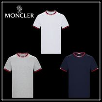 MONCLER Short Sleeves V-Neck T-Shirts