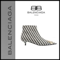 BALENCIAGA Pin Heels Elegant Style Ankle & Booties Boots
