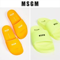 MSGM Open Toe Rubber Sole Casual Style Unisex Shower Shoes
