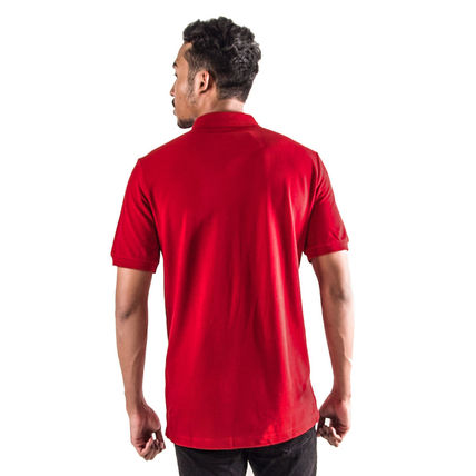 Burberry Polos Authentic Burberry Men Military Red Check Placket Polo Shirt 4