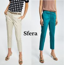 Sfera Casual Style Plain Cotton Cropped & Capris Pants