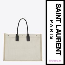Saint Laurent Casual Style A4 Logo Totes