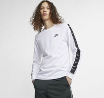 Nike Crew Neck Street Style Long Sleeves Logos on the Sleeves
