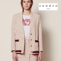 sandro Tweed Elegant Style Vests