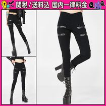 DOLLS KILL Casual Style Blended Fabrics Plain Long Skinny Pants