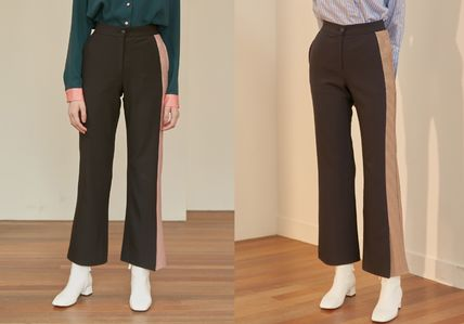 Other Check Patterns Bi-color Long Pants