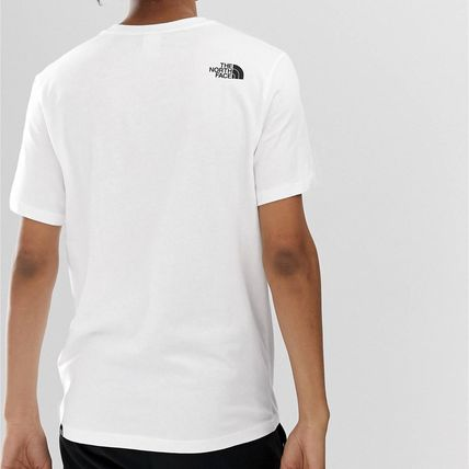 THE NORTH FACE Crew Neck Crew Neck Street Style Plain Cotton Short Sleeves 2
