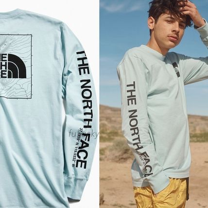 THE NORTH FACE Crew Neck Crew Neck Street Style Long Sleeves Cotton