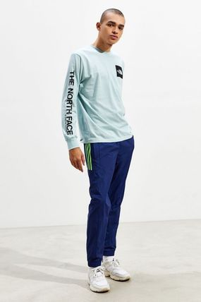 THE NORTH FACE Crew Neck Crew Neck Street Style Long Sleeves Cotton 2