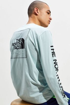 THE NORTH FACE Crew Neck Crew Neck Street Style Long Sleeves Cotton 3