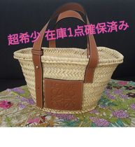 LOEWE Leather Straw Bags