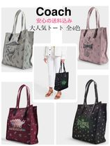 Coach Casual Style Unisex Canvas A4 Other Animal Patterns Khaki