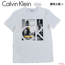 Calvin Klein Street Style Short Sleeves T-Shirts