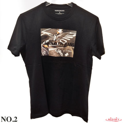 Calvin Klein More T-Shirts Street Style Short Sleeves T-Shirts 14
