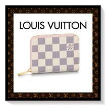 Louis Vuitton ZIPPY COIN PURSE Other Check Patterns Unisex Canvas Blended Fabrics