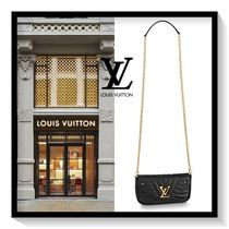 Louis Vuitton Blended Fabrics Plain Leather Accessories