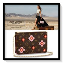 Louis Vuitton TWIST Flower Patterns Monogram Canvas Blended Fabrics