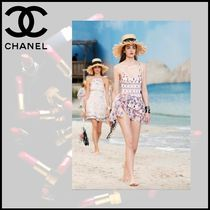 CHANEL Short Casual Style Cotton Skirts