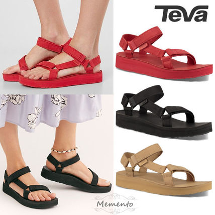 Open Toe Rubber Sole Casual Style Suede Street Style