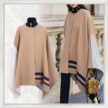 Chloe Stripes Wool Bi-color Medium Ponchos & Capes