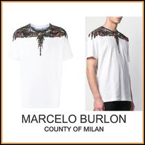 Marcelo Burlon Crew Neck Street Style Cotton Short Sleeves