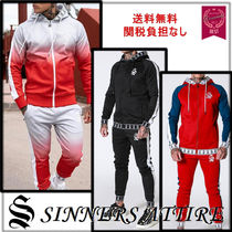 SINNERS ATTIRE Unisex Street Style Top-bottom sets