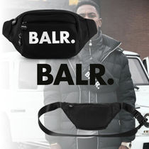 BALR Unisex Nylon Street Style 2WAY Plain Hip Packs