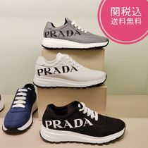 PRADA Casual Style Plain Low-Top Sneakers