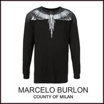 Marcelo Burlon Crew Neck Street Style Long Sleeves Cotton