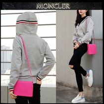 MONCLER Short Street Style Long Sleeves Plain Cotton Cropped