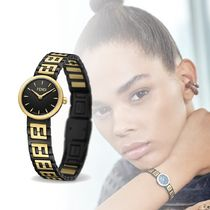 FENDI FOREVER Round Quartz Watches Stainless Elegant Style Analog Watches