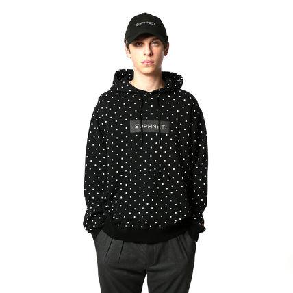 Dots Unisex Sweat Street Style Long Sleeves