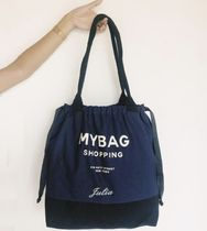 Bag all Casual Style Canvas A4 Logo Totes
