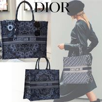 Christian Dior Unisex Canvas A4 2WAY Totes