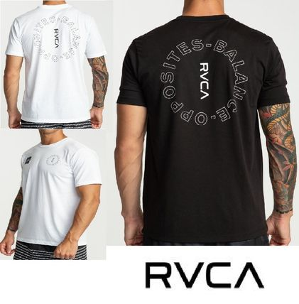 RVCA Crew Neck Crew Neck Street Style Plain Short Sleeves