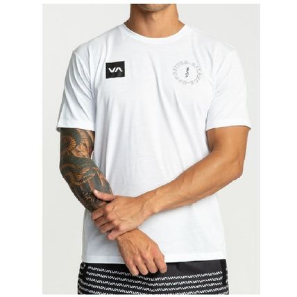 RVCA Crew Neck Crew Neck Street Style Plain Short Sleeves 7