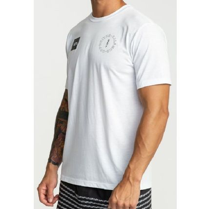 RVCA Crew Neck Crew Neck Street Style Plain Short Sleeves 8
