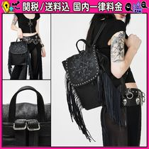 DOLLS KILL Flower Patterns Casual Style Studded Backpacks